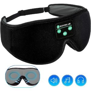 Sleep Headphones Bluetooth 3D Eye Mask, Boodlab 3D Wireless Sleeping Headphones Sleep Mask with Ultra-Thin HD Stereo Speakers Washable Adjustable for sleeping Side Sleepers Air Travel Yoga, Meditation