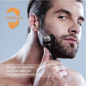 Beard Derma Roller for Beard Growth & Care - Derma Roller for Men - Roller for Home Use - YOOBEAUL Beard Growth Kit Refill