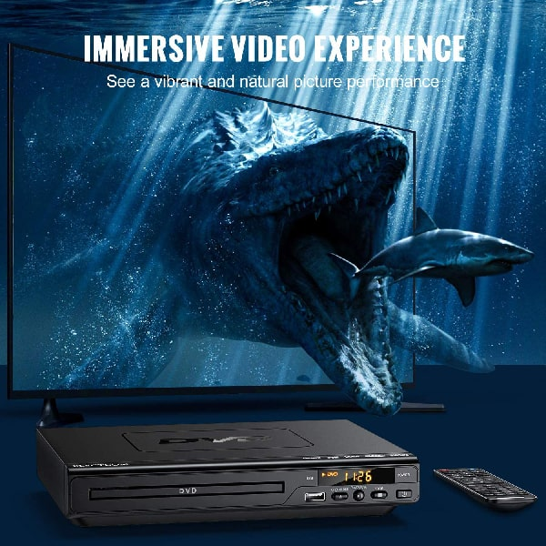 ELECTCOM DVD Player, DVD Players for TV with HDMI and Remote, Region Free DVD Players for TV