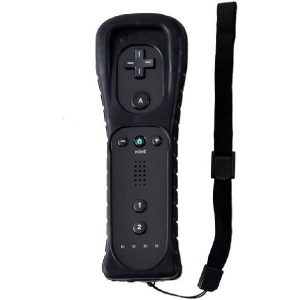Lyyes Wii Remote Controller, Wii Controller and Protective Case for Nintendo Wii Wii U (Black)