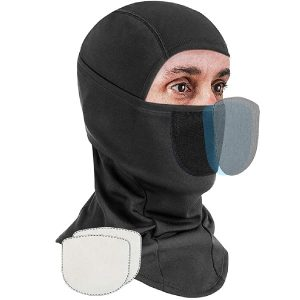 Ski Mask Balaclava with 2 Filters, Cotton Full Face Covering Reusable & Breathable with UV/Dust Protection, Winter Neck Gaiter Bandana for Men Women Skiing Snowboading & Motorcycle Riding, Black