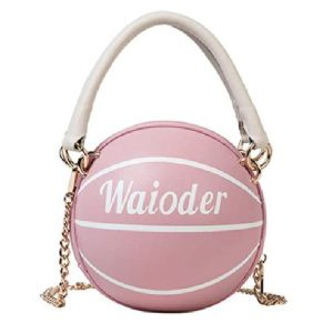 Waioder Basketball Shaped Purse for Women Girls Tote Shoulder Handbag Crossbody Bag