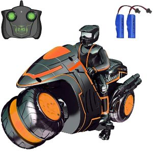 Remote Control Car Toys for Boys, RC Car Stunt Motorcycles 2.4Ghz 360° Spinning High Speed Racing Car with 2 Rechargeable Battery for 4-12 Year Old Boys or Girls Gift