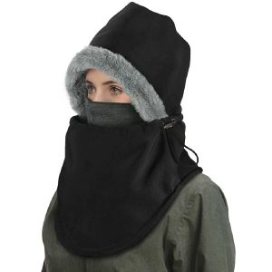 Balaclava Ski Mask, Winter Balaclavas Hoodie for Men Women,Waterproof Windproof Heavy Fleece Neck Warmer Hat Skiing Hunting