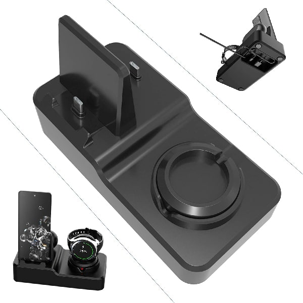 EloBeth Charger Stand Compatible with Samsung Galaxy Watch 3, Active 2/1,Gear S3/S2 Charger Dock, Samsung Galaxy Note 20/10/10/9/8, S20/S10,Galaxy Buds Charging Cable (Not Include Watch Charger)