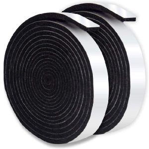 Nonley BBQ Smoker Gasket Self Stick, 15 ft Grill Tape High Temp Smoker Gasket Seal Grill Gasket Seal Tape,1/8 Inch Thickness,0.5 Inch Wide