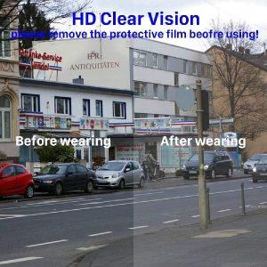 biondo beverly hills 5 PCS Glasses Style Visor Transparent Anti-Fog Layer Anti Air Dust Cover
